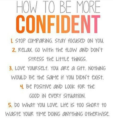 how to be more confidentt